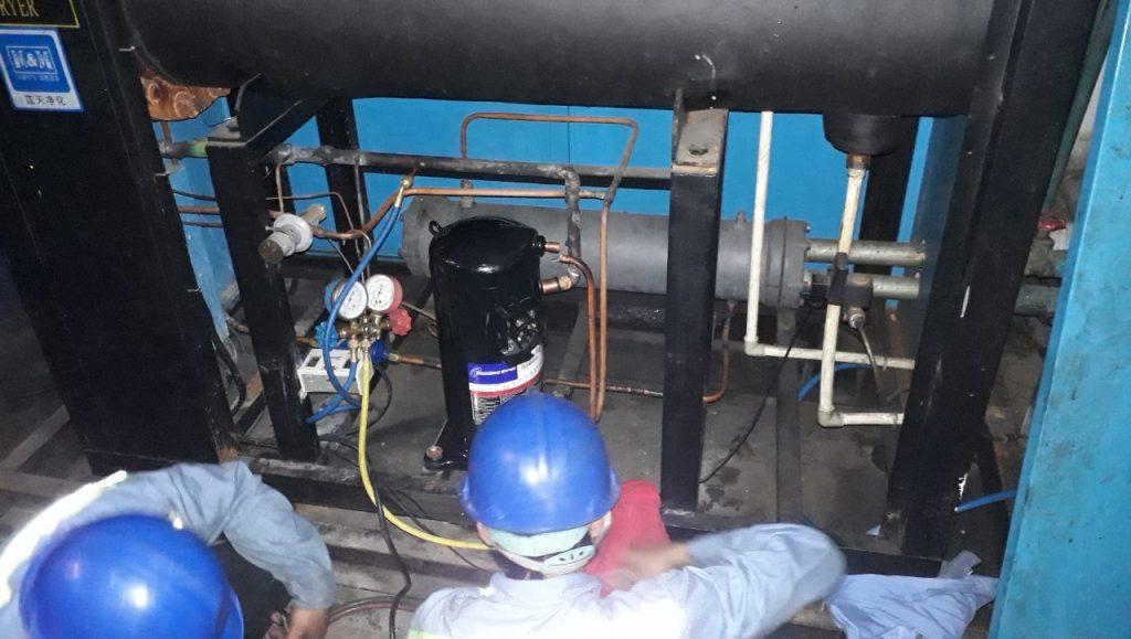 bảo trì hệ thống lạnh chiller tại Bình Dương